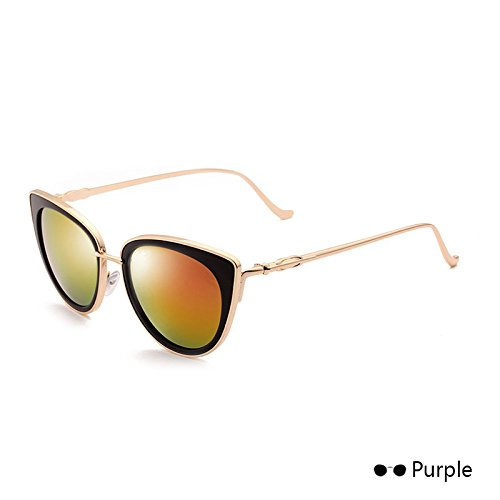 The De Leopard Lord Eyewear Sol De Cat Vintage Retro Sol Gafas Eye En Mujer Espejo TIANLIANG04 De Of De Gafas Purple Metal Hembra H0Rq1xa