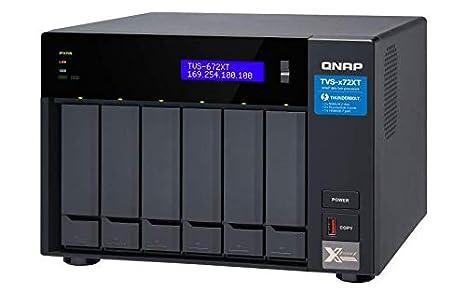 QNAP TVS-672XT 6 Bay Thunderbolt 3 NAS with 8GB RAM, 10GbE, M.2 PCIe Nvme SSD Slots
