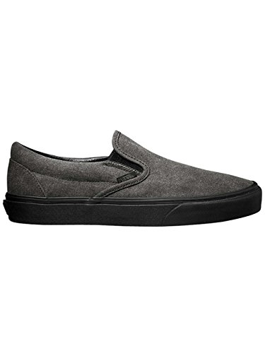 Vans Unisex Classic Slip-On (Washed) Black/Black Skate Shoe 8.5 Men US / 10 Women US
