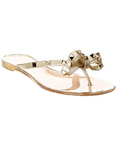 VALENTINO Rockstud Jelly Bow Thong Sandal, 36, used for sale  Delivered anywhere in USA
