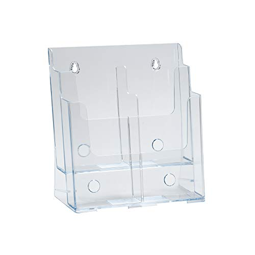 Azar 252381 Two-Tier Four-Pocket Trifold Brochure Holder
