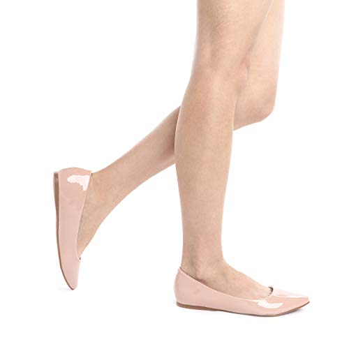 Women's Flats Casual Classic Soft Comfort Pointed Nude Shoes Toe Fancy Sole Ballet Slip Pairs Dream pat On 1qwIOO