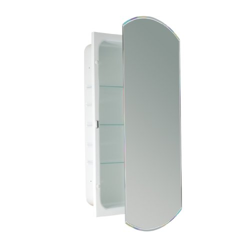 (Head West Beveled Eclipse Mirror Recessed Medicine Cabinet, 16-Inch by 30-Inch)