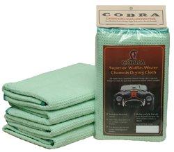 Cobra 3 Pack Microfiber Waffle Weave Satin Edge Drying Towel 16 x 24