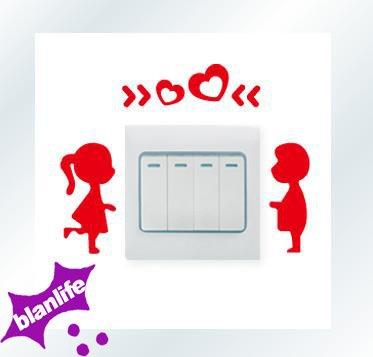 T-Mida Home Wall Stickers,Creative Acrylic Wall Stickers 3D Stereo Crystal Wall Stickers Switch Stickers