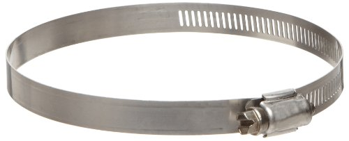 Ideal-Tridon 63 Series High-Nickel Stainless Steel Worm Gear Hose Clamp, General Purpose, 40 SAE Size, Fits 2 - 2-1/4