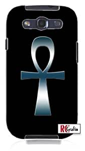 Cool Painting Egyptian Ank Ankh Tribal Egypt Cross Blue Smokey Chrome Unique Quality Soft Rubber Case for Samsung Galaxy S4 I9500 - White Case