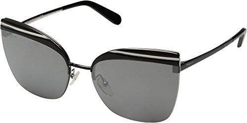 Salvatore Ferragamo Women's SF166SL Shiny Black/Flash Grey Solid One Size -