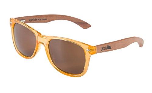 a Gafas hechas Modelo mujer polarizadas sol madera mano unisex april® de hombre natural W de patillas 969 con zdqzvZ1w