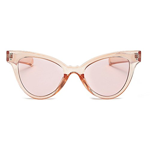 Armear Cat Eye Mod Sunglasses Transparent Frame Tinted Women Sunglasses Super Cute (Pink, - Sunglasses 1970s