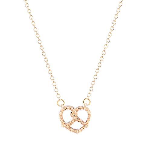 Frodete Infinity Forever Love Heart Knot Pendant Necklace Women Shiny Crystal Rhinestone BFF -