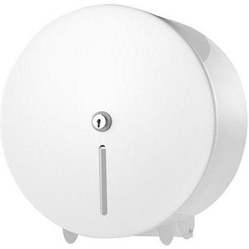 C21 Hygiene C21WMD01 Metal Mini Jumbo Toilet Roll Dispenser, White C21 Hygiene Ltd