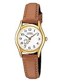 Casio Women's Leather watch #LTP1094Q7B8 (Digital Watch Brown Strap)