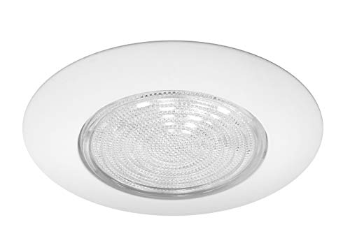 Nicor Lighting 17572 Lexan Shower with Fresnel Lens Trim for 17002A and 17003A 6-Inch IC  With Metal Trim Ring, WHITE