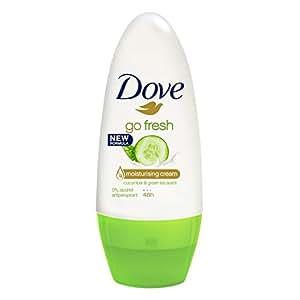 Dove Women Antiperspirant Roll On Deodorant Fresh Touch Cucumber & Green Tea, 50ml