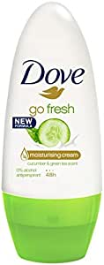 Dove Women Antiperspirant Roll On Deodorant Fresh Touch Cucumber & Green Tea, 50ml