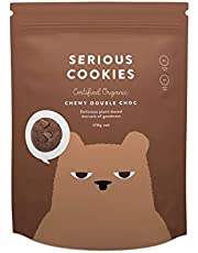Serious Foods Cookies Chewy Double Chocolate Chip (Made in New Zealand, Gluten Free, Organic, No Refined Sugar), 170 g