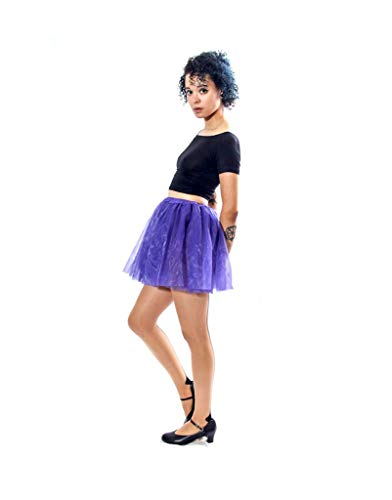 Classic Layered Princess Tutu for Holiday Costumes, Fun Runs, and Everyday Wear Over Leggings Purple ()