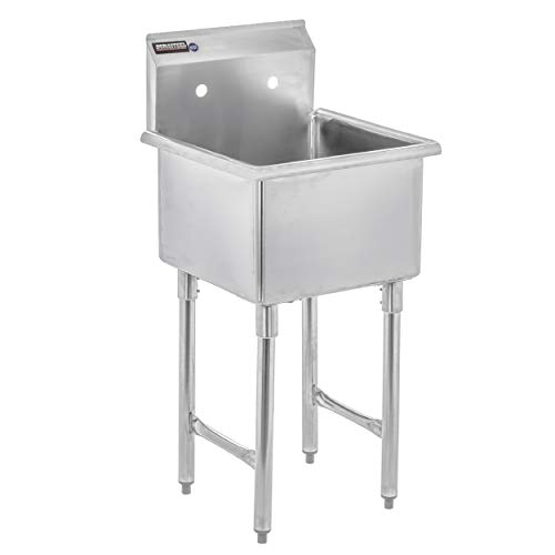 DuraSteel Stainless Steel Prep & Utility Sink - 1 Compartment Commercial Kitchen Sink - NSF Certified - 18