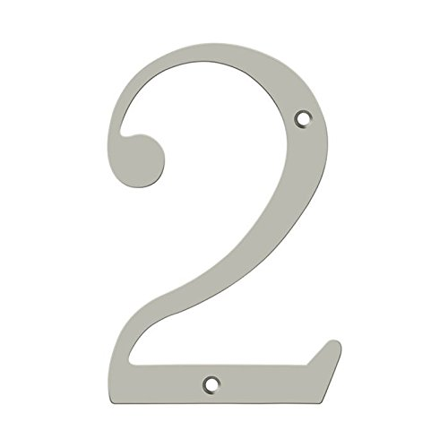 Deltana RN6-2U15 Solid Brass 6-Inch House Number 2 Board