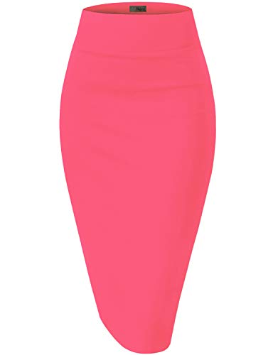 HyBrid & Company Womens Pencil Skirt for Office Wear KSK45002 1073T Pink CARNA S