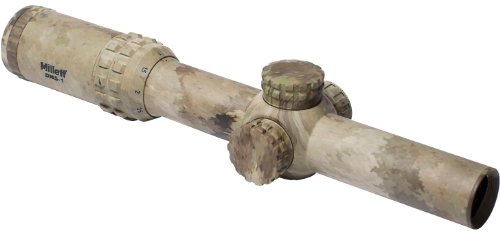 Millett Tactical Designated Marksman DMS-1 1-4x24mm Illuminated Donut Dot Reticle Riflescope, A-TACS Camo