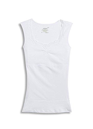 Neck Sweep (Jockey Women's Shapewear High Back Scoop Neck Tank, white, 2XL)