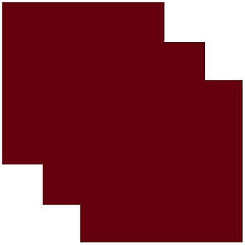 SISER EasyWeed Heat Transfer Vinyl HTV for T-Shirts 12 x 12 Inches 3 Precut Sheets (Burgundy Red)