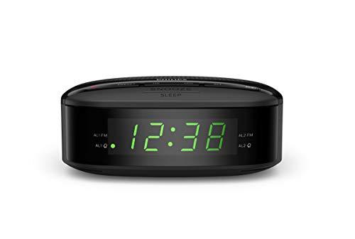 Philips Audio R3205/12 Klokradio, FM Radio (Dubbel Alarm, Sleeptimer, Compact Design, Digitale FM Radio, Batterij als…