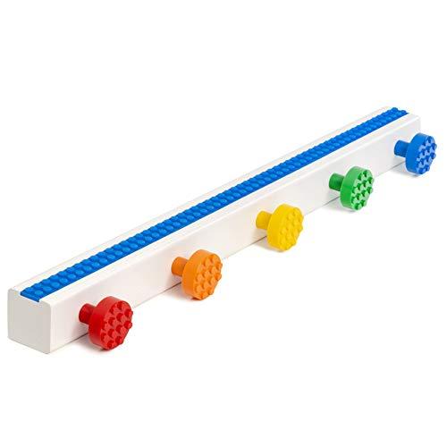 Build-On Brick Minifigure Shelf and Wall Hooks (Classic Assorted)