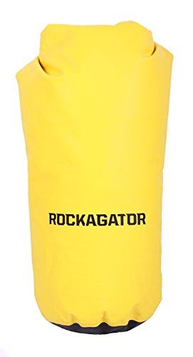 (Rockagator 100% Waterproof Fully Submersible Dry Bag (10L, 20L, 30L, 50L) (Yellow/Black, 50 Liter))