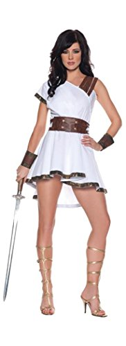 Underwraps Women's Sexy Gladiator Costume - Olympia, White/Brown, X-Large