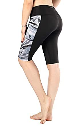Sugar Pocket Women Yoga Pants Workout Leggings Half Tights with Side Pockets S(002)