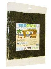SeaSnax Raw Raw Raw Seaweed Snack, 1 Ounce -- 16 per case. by SeaSnax (Image #1)