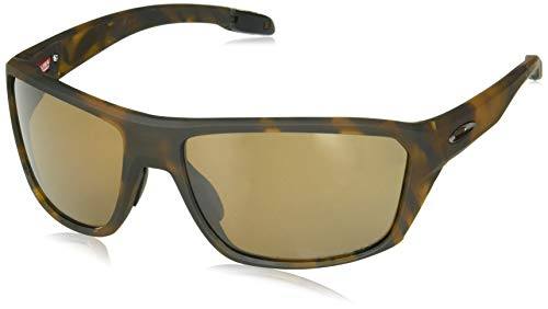 Oakley Men's OO9416 Split Shot Rectangular Sunglasses, Matte Brown Tortoise/Prizm Tungsten Polarized, 64 mm ()