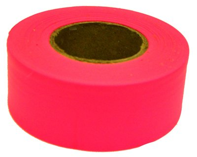Ch Hanson 17003 Standard Flagging Pvc Tape Pink 150' (Pack Of 12) by C.H. (Pink Flagging Tape)