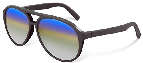 Vuarnet VL1306P00S1140 Sunglasses Dark Matte Brown Frame CityLynx Gray Mirror Glass (Red Frame Shaded Brown Lenses)