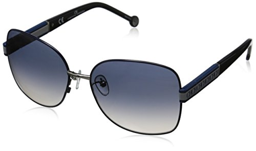 Carolina Herrera Women's SHE044 580E70 Square Sunglasses, Shiny Palladium Blue & Gradient Blue, 58 - Herrera 2015 Carolina Sunglasses