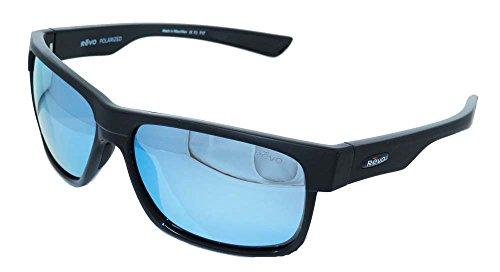 Revo Eyewear Sunglasses Camden Matte Black with Blue Water Polarized - Sunglasses Blue Revo