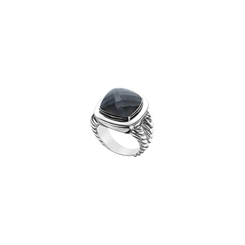 Black Onyx Rope Ring 14K White Gold 10.00 CT TGW ()