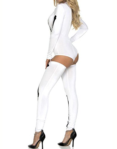 The Ghost Of Christmas Present Costume (Horrible Skeleton Print Jumpsuits Halloween Party Night Costume Ghost Women Conjoined Rompers Plus Size)