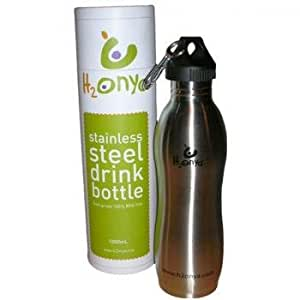 H2Onya 1000 ml botella reutilizable acero inoxidable cepillado