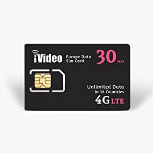 Europe Prepaid SIM Card Unlimited Data 30 Days 300MB in 4G Speed