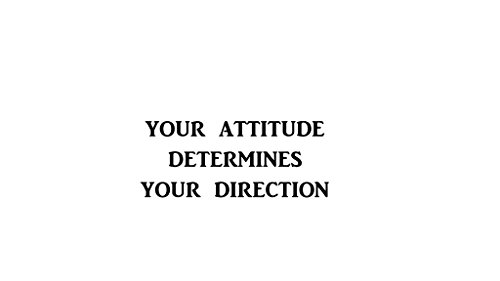 Your Attitude Determines Your Direction Decal  Decal For Office  School  Home  Gym  Work Place  Home Gym Etc      Motivational  Inspirational  Positive  Affirmations    7 In Decal   Kcd245