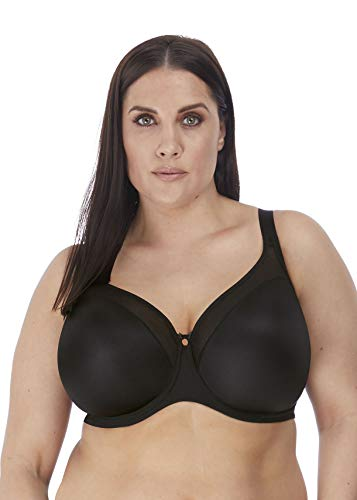 Elomi Women's Plus Size Smooth Underwire Molded Bra, Black, 46FF
