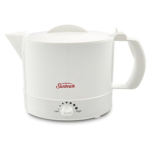 Mr. Coffee Sunbeam BVSBWH1001 Electric Hot Pot, White, 1,