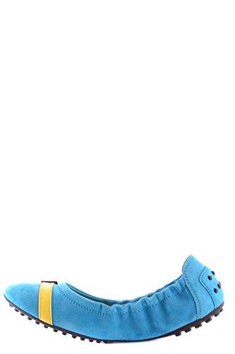 Tods Vrouwen Mcbi293069o Light Blue Suede Ballerinas