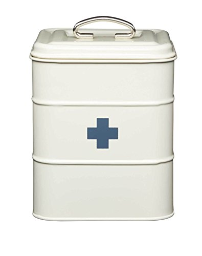 Kitchencraft Living Nostalgia Vintage-style Metal First Aid Box, Antique Cream,
