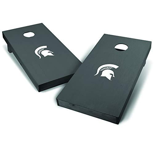 - Wild Sports NCAA College Michigan State Spartans 2' x 4' Grey Authentic Cornhole Game Set - Big Logo Design