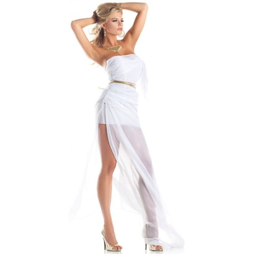 Be Wicked Costumes Women's Lovely Aphrodite Costume, White, Small/Medium ()